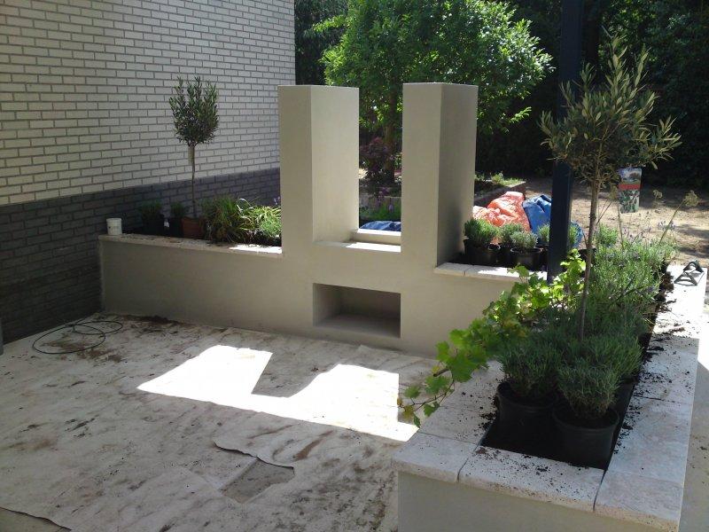 12. buiten openhaard afgewerkt met cement