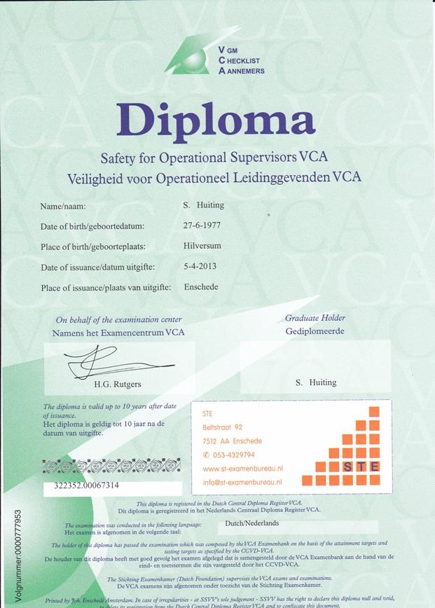 6. diploma VCA-vol