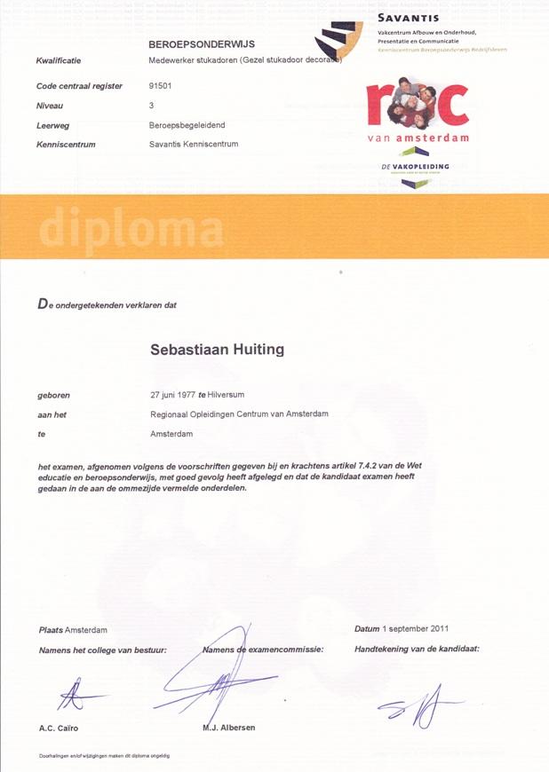 3. diploma gezel niveau 3 a