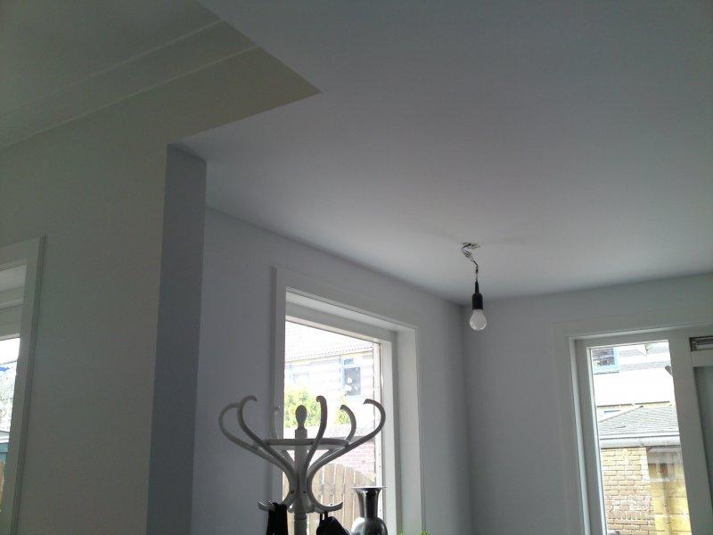 11. verlaagd plafond afwerking