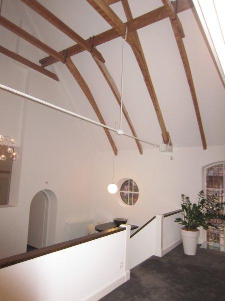 1. vlakke plafond afwerking